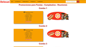 Detalle de www.alimentosdelosan.com.ar/