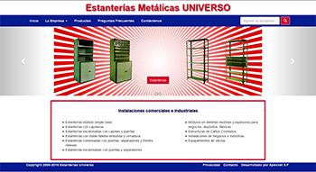 Detalle de www.estanteriasuniverso.com.ar/
