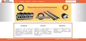 Detalle de www.sampirepuestos.com.ar/